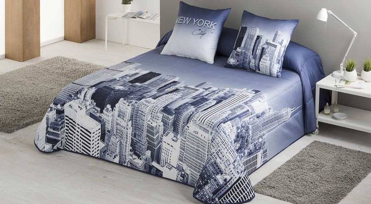 Bouti Modelo New York (Color Unico) Tambien en Funda Nordica y edredon ajustable. Medidas y precios disponibles para camas de: 90cm (103€) 105cm (106€) 135cm (122€) 150cm (125€) 180cm (129€)