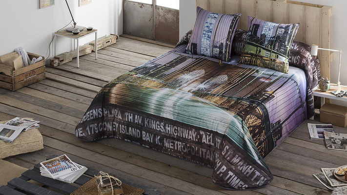Bouti Modelo Brooklyn (Color Unico) Tambien en Funda Nordica.  Medidas y precios disponibles para camas de: 90cm (103€) 105cm (106€) 135cm (122€) 150cm (125€) 180cm (129€)