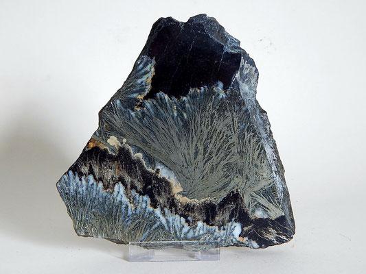 Federpyrit, Siderit, Quarz - Harz