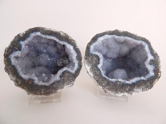 Amethyst-Geodenpaar - Mexiko