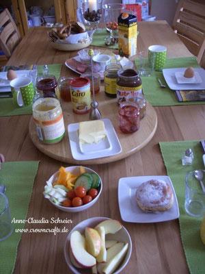 Wieder zuhause - gemütliches Sonntags-Frühstück! Wegzufahren und neues zu sehen ist wundervoll - aber wieder nach Hause zu kommen und zu spüren, man ist geliebt, auch!!!