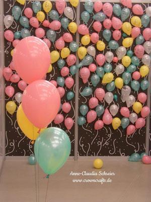 ... mit so viel Liebe gestaltet: Hier die Geburtstagswunsch-Wand. Vielleicht wird meiner ja wahr!