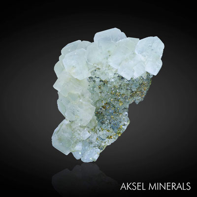 AM641 - Fluorite et Pyrite - Naïca Mine, Saucillo Municipality, Chihuahua, Mexique