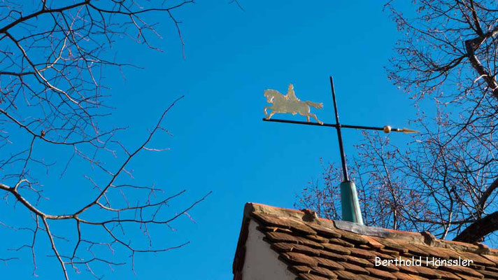 Naturdenkmal bei den Heidhöfen, benannt nach seinem goldenen Reiter
