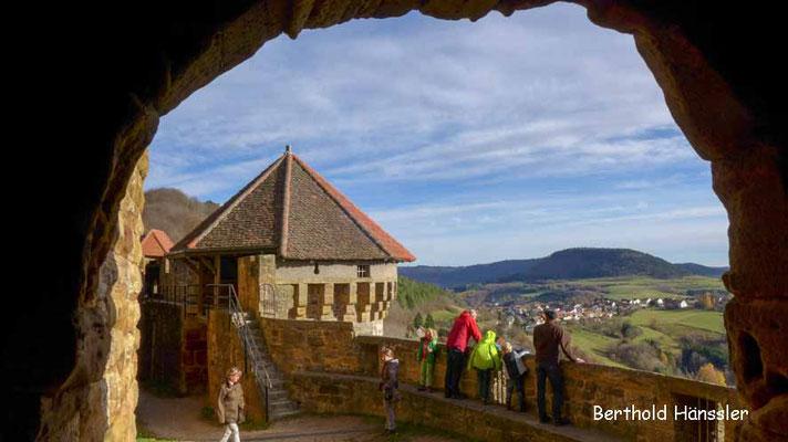 Blick von der Ruine Hohenrechberg