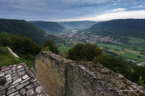 Blick von der Ruine Hiltenburg ins Obere Filstal Richtung Gosbach