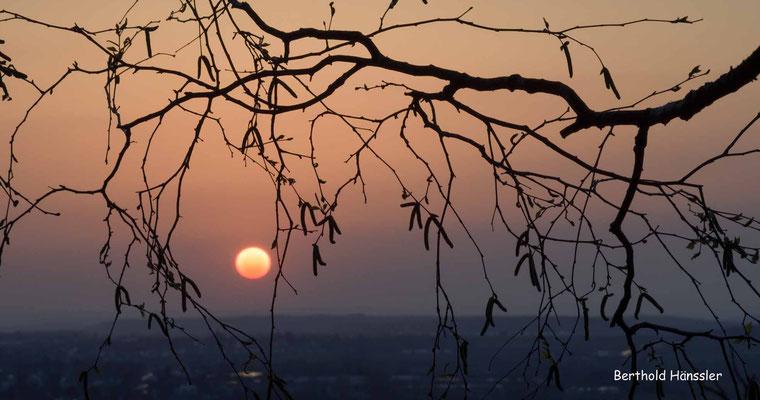 März 2020: Sonnenuntergang bei Eschenbach