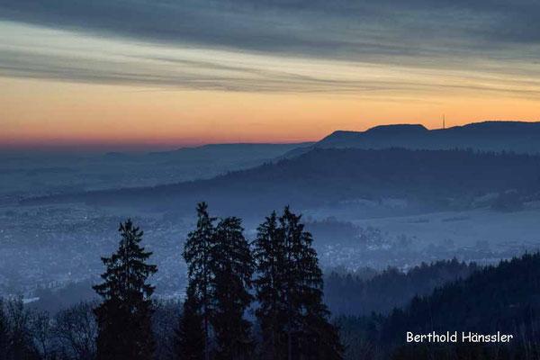 Blick von Rechberg Richtung Rosenstein auf der Ostalb