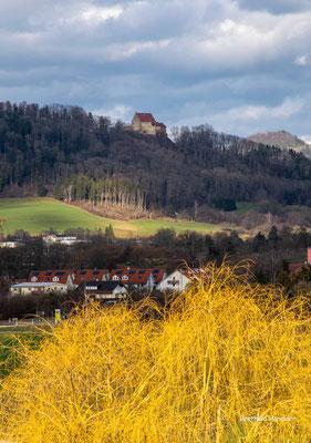 Februar 2021, Blick über Süßen zum Ramsberg