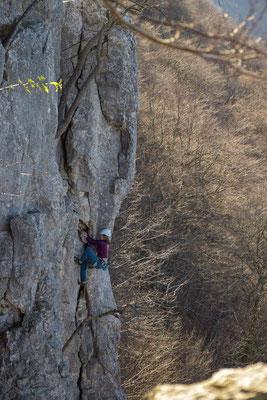 November 2020 - Kletterin am Grünen Felsen bei St. Johann