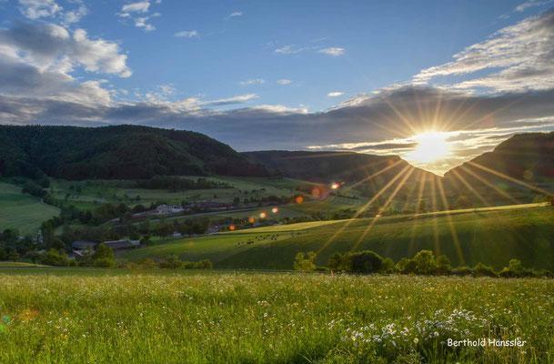 Mai 2020, Sonnenuntergang am Gairen