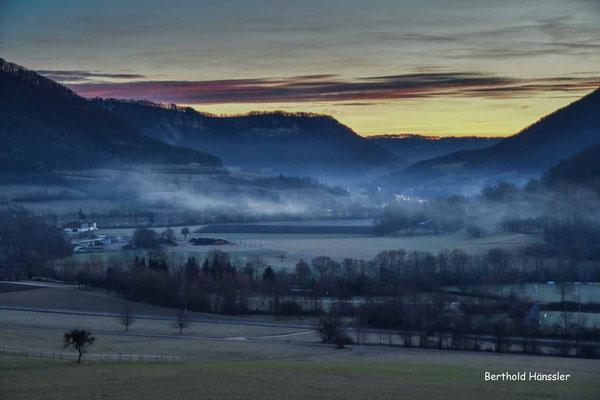 20200115 Morgenstimmung bei Reichenbach i.T. mit Blick zum Hausener Felsenkranz