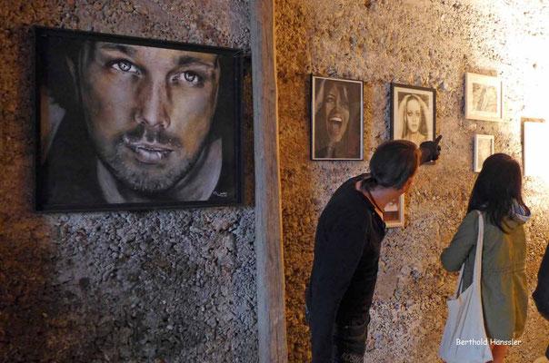 Bei der Bad Ditzenbacher Kunstnacht gibt es im ganzen Ort verteilt die verschiedensten Kunstwerke zu sehen