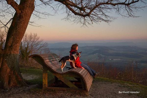 Februar 2020: Hohenstaufen mit Blick ins Rehgebirge