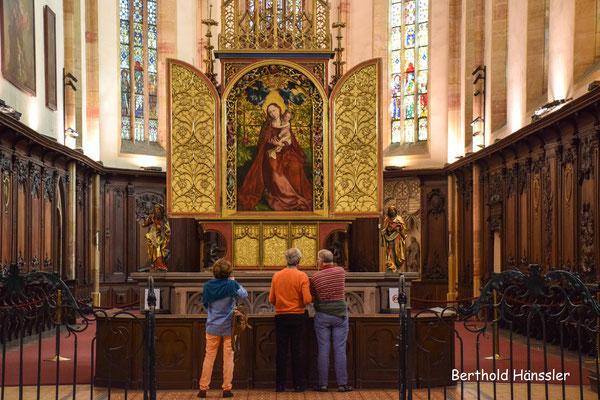 Elsass - Collmar - Martin Schongauer: Die Maria im Rosenhag