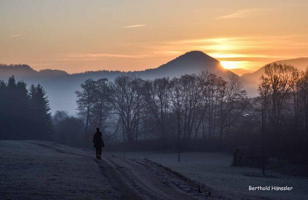 20200117 Kurz vor Sonnenaufgang bei Reichenbach i.T. - mit Weigoldsberg