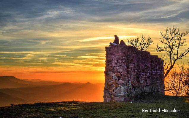 Sonnenuntergang auf der Achalm bei Reutlingen