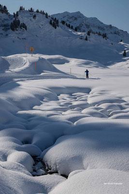 Januar 2020 - Bregenzer Wald, Langläufer am Hochtannbergpass