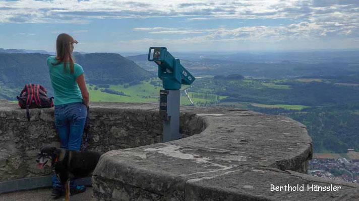 Aussicht auf der Burg Teck