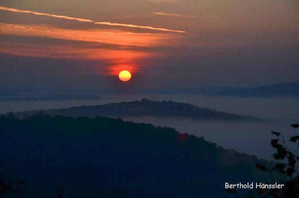 Morgenstimmung in der Nähe von Schloss Lichtenstein