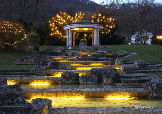 Brunnentempel im Kurpark von Bad Überkingen