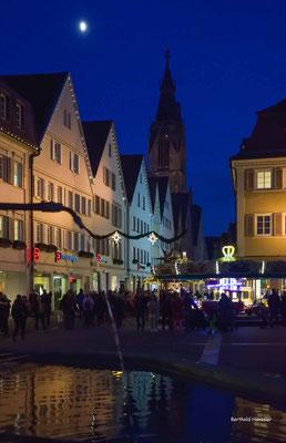 6.12.2019 Blaue Stunde am Marktplatz in Reutlingen