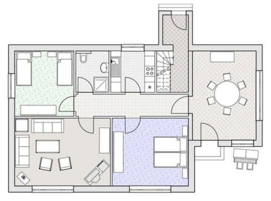 Reetdachhaus Weber - Erdgeschoss - Amrumer Urlaubsservice