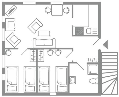 Haus Dünem - Ost OG - Amrumer Urlaubsservice