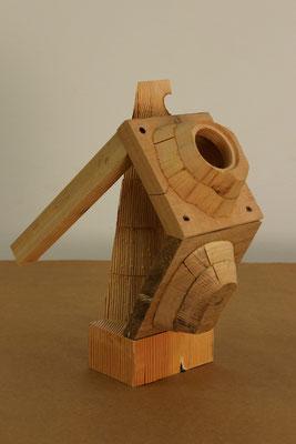 Pragmatismus, 2015, Holz, 15x30x40cm
