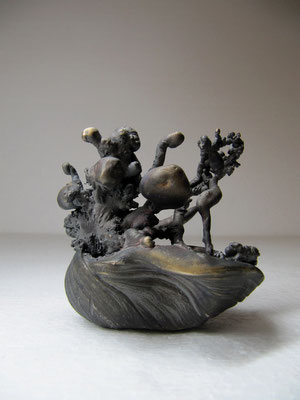 Flow Field Visualisation, 2011, Bronze, 10x10x10cm