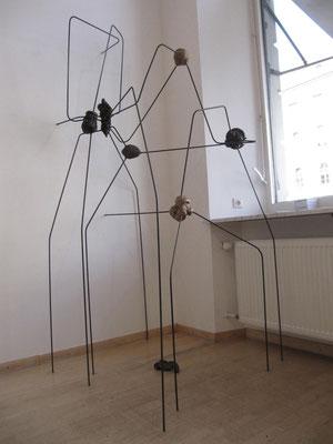 Synapsen 2012,Instalation, Bronze Eisen, 300x200x200cm