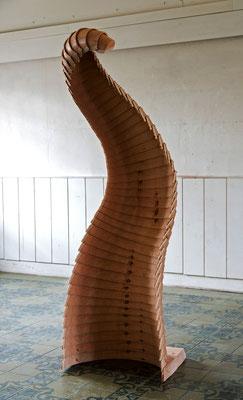 Derivent01, 2018, Douglasie, 50x40x220cm