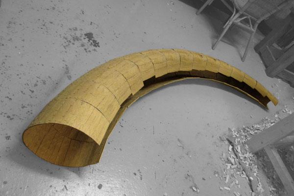 Multipla 4 2012, Eichenholz, 200x40x50cm