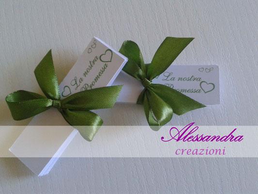 Bigliettini Bomboniere Promessa Di Matrimonio.Promessa Di Matrimonio Alessandra Creazioni