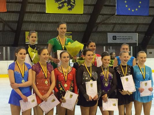 Junior Ladies Vlaams Kampioenschap 2016. Daphne 5de plaats
