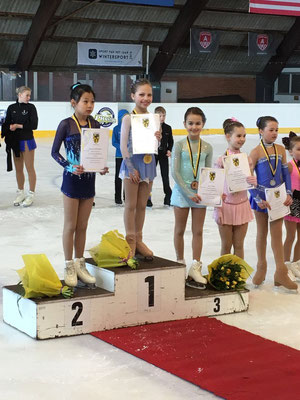 Line De Graef 3de, Polina Syzdykov 4de  op het Vlaams Kampioenschap 2016