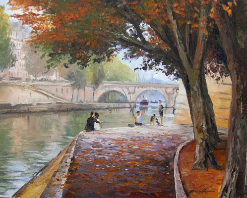 Quai de Seine  92 X 73 cm