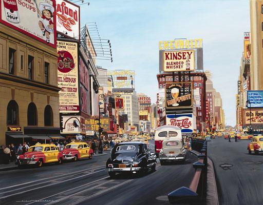 Time Square 1948  146 X 116 cm 80F