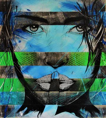 Portrait  H 69 X 62 cm