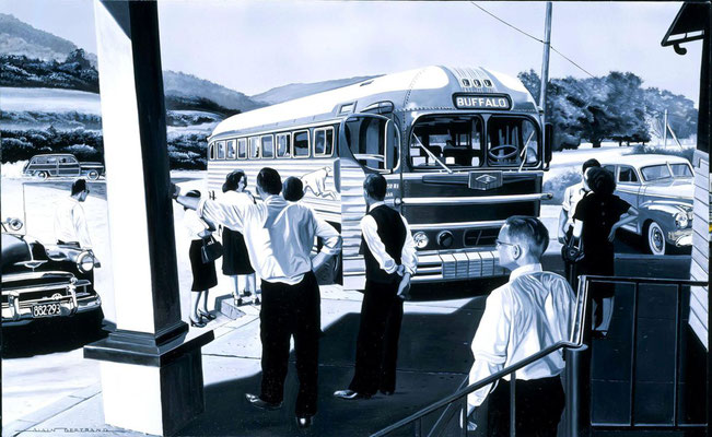 Bus station  100 X 73 cm