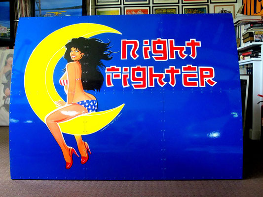 Nose Art - Night Fighter  160 X 120 cm