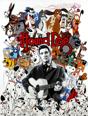 Hound dog  -  116 X 89 cm