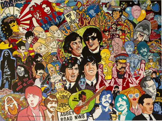 Beatles story  130 X 97 cm