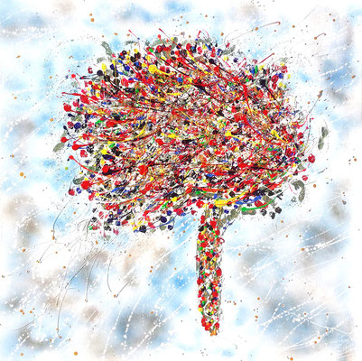 L'arbre  100 X 100 cm