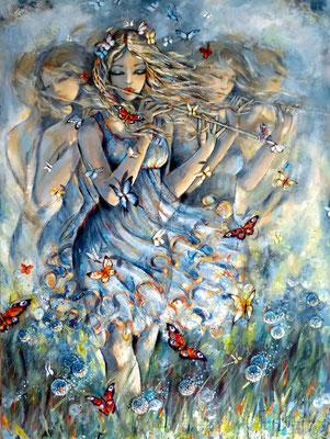 Le souffle des rêves  130 X 97 cm