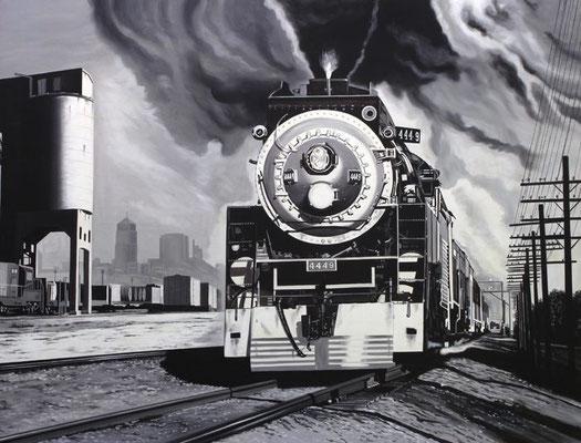American steam  116 X 89 cm