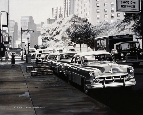 Chevy in NY  92 X 73 cm