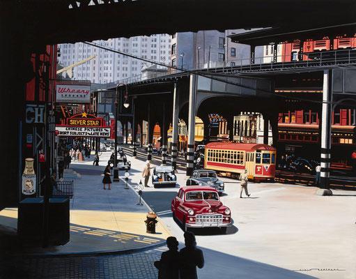 Bowery trolley  130 X 97 cm
