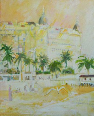 Carlton plage 1919  -  61 X 51 cm