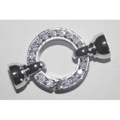Chiusura in argento e zirconi
